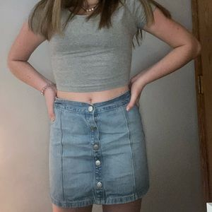 Super cute jean skirt!